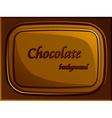 Stylish chocolate bar vector