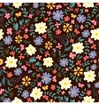 Seamless pattern from spring flowers vector