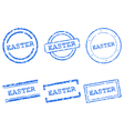 Easter stamps vector