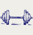 Sketch dumbbell weight vector
