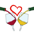 I love good wine vector
