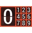 Flat countdown number vector