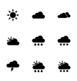 Black weather icon set vector