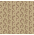 Seamless pattern with isometric locks vector