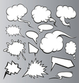 Speech bubbles backgrounds vector