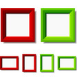 Red and green photo frames vector