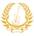 Electro guitar symbol vector