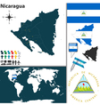 Nicaragua map world vector