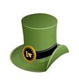 Green hat in saint patricks day vector