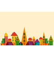 Cute little town vector