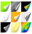 Set of colorful curled corners vector