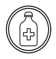 Bottle with pills or vitamins icon isolated vector