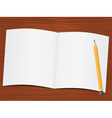 Paper on the wooden desk vector