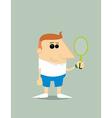 Cartoon tennis player vector