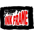 Black grungy ink frame vector