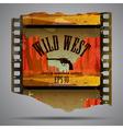 Western film piece vector