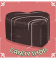 Candy shop signboard vector