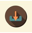Flat circle web icon download vector