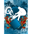 Bmx biker summer background vector