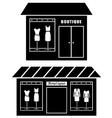 Black icon of boutique vector