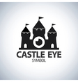 Castle eye symbol icon vector