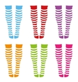 Knee-length socks vector