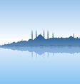 Istanbul and sea vector