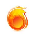 Ball of fire logo vector