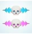 Music breaks the skull vector