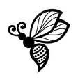 Beautiful bee exotic insect vector