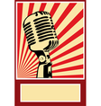 Music poster microphone vector