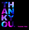 Greeting card with typography elements thank you vector