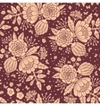 Seamless vintage pattern with decorative flowers vector