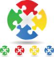 Puzzle circle vector
