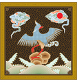 Chinese detailed phoenix pattern vector