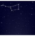 Dark blue sky with constellation of ursa major vector
