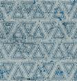 Vintage geometric seamless pattern old repeat vector