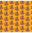 Abstract seamless pattern with isometric laptop vector