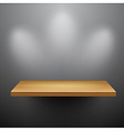 3d isolated empty shelf for exhibit vector