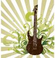 Rock star guitar vector