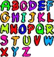 Scribble alphabet vector