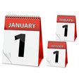 Icon calendar new year vector