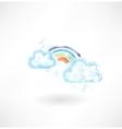 Rainbow grunge icon vector