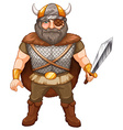 Viking warrior vector