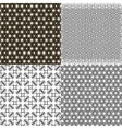 Set of 4 monochrome elegant patterns ornaments may vector