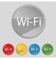 Free wifi sign wi-fi symbol wireless network icon vector