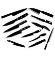 Kitchen knife set vector