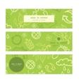 Environmental horizontal banners set pattern vector