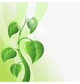 Green sprout with leaves and copyspace for your vector