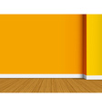 Orange empty interior background vector